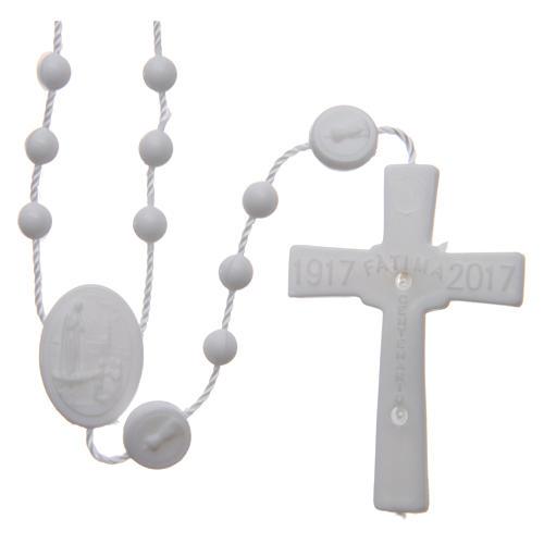Rosario nylon blanco Nuestra Señora de Fatima 6 mm 2