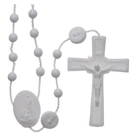Our Lady of Fatima rosary white 6 mm s1