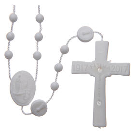 Our Lady of Fatima rosary white 6 mm s2