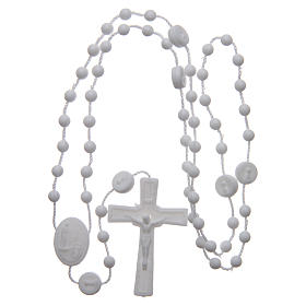Our Lady of Fatima rosary white 6 mm s4