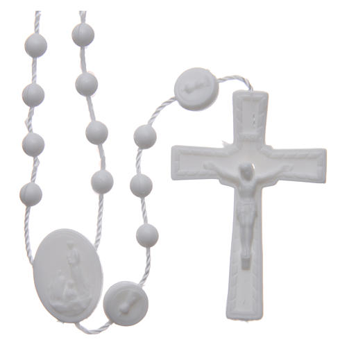 Our Lady of Fatima rosary white 6 mm 1
