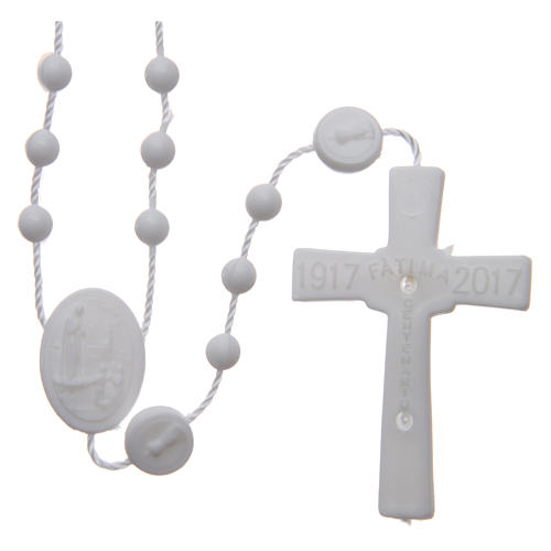 Our Lady of Fatima rosary white 6 mm 2