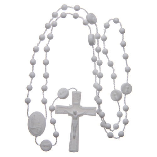Our Lady of Fatima rosary white 6 mm 4