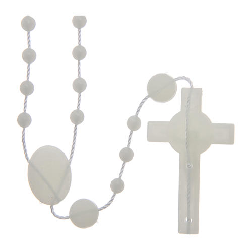 Saint Benedict rosary in nylon phosphorescent 6 mm 2