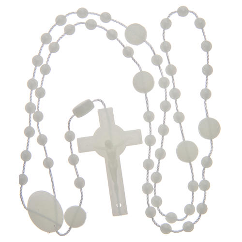 Saint Benedict rosary in nylon phosphorescent 6 mm 4