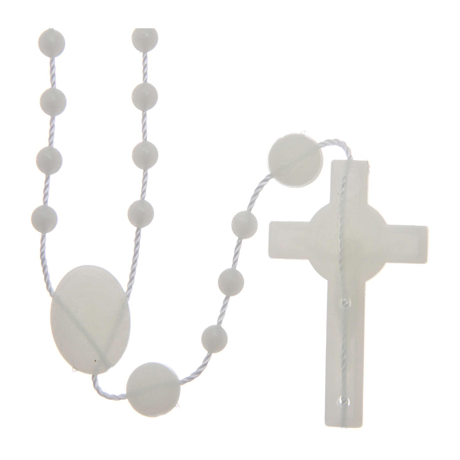 Różaniec nylon fosforyzujący Święty Benedykt 6 mm 4