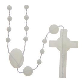 Saint Benedict rosary in nylon phosphorescent 6 mm s2