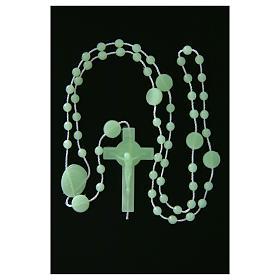 Saint Benedict rosary in nylon phosphorescent 6 mm s5
