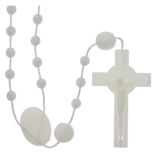 Saint Benedict rosary in nylon phosphorescent 6 mm 1