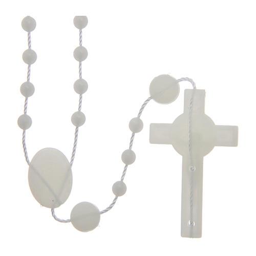 Saint Benedict rosary in nylon phosphorescent 6 mm 2