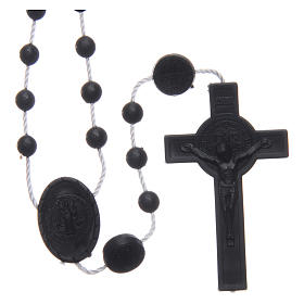Saint Benedict rosary in nylon black 6 mm s1