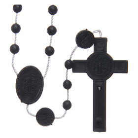 Saint Benedict rosary in nylon black 6 mm s2