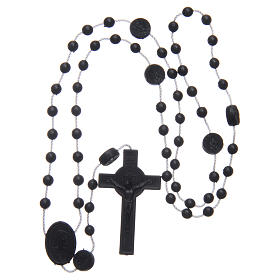 Saint Benedict rosary in nylon black 6 mm s4