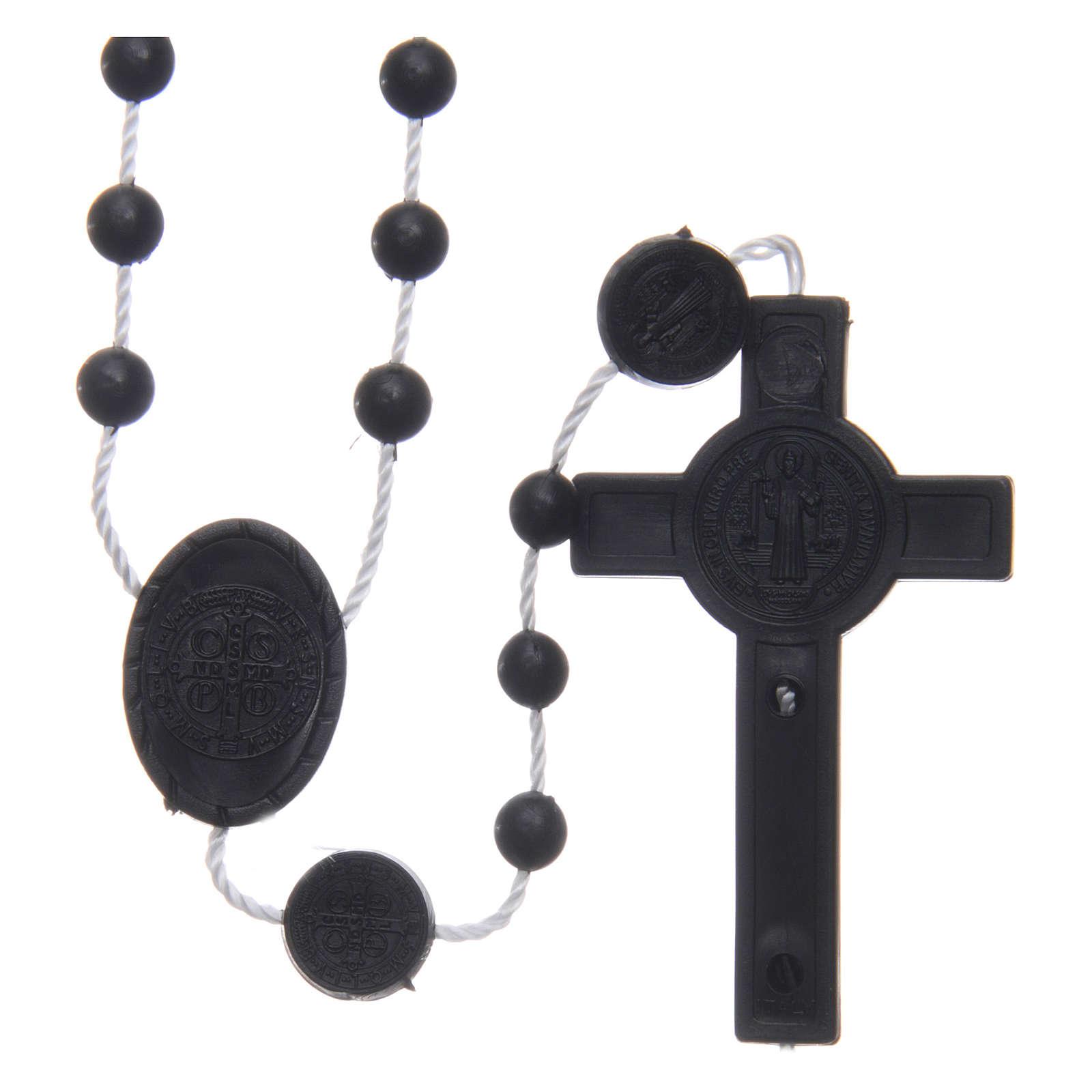 Rosario nylon negro San Benito 6 mm 4