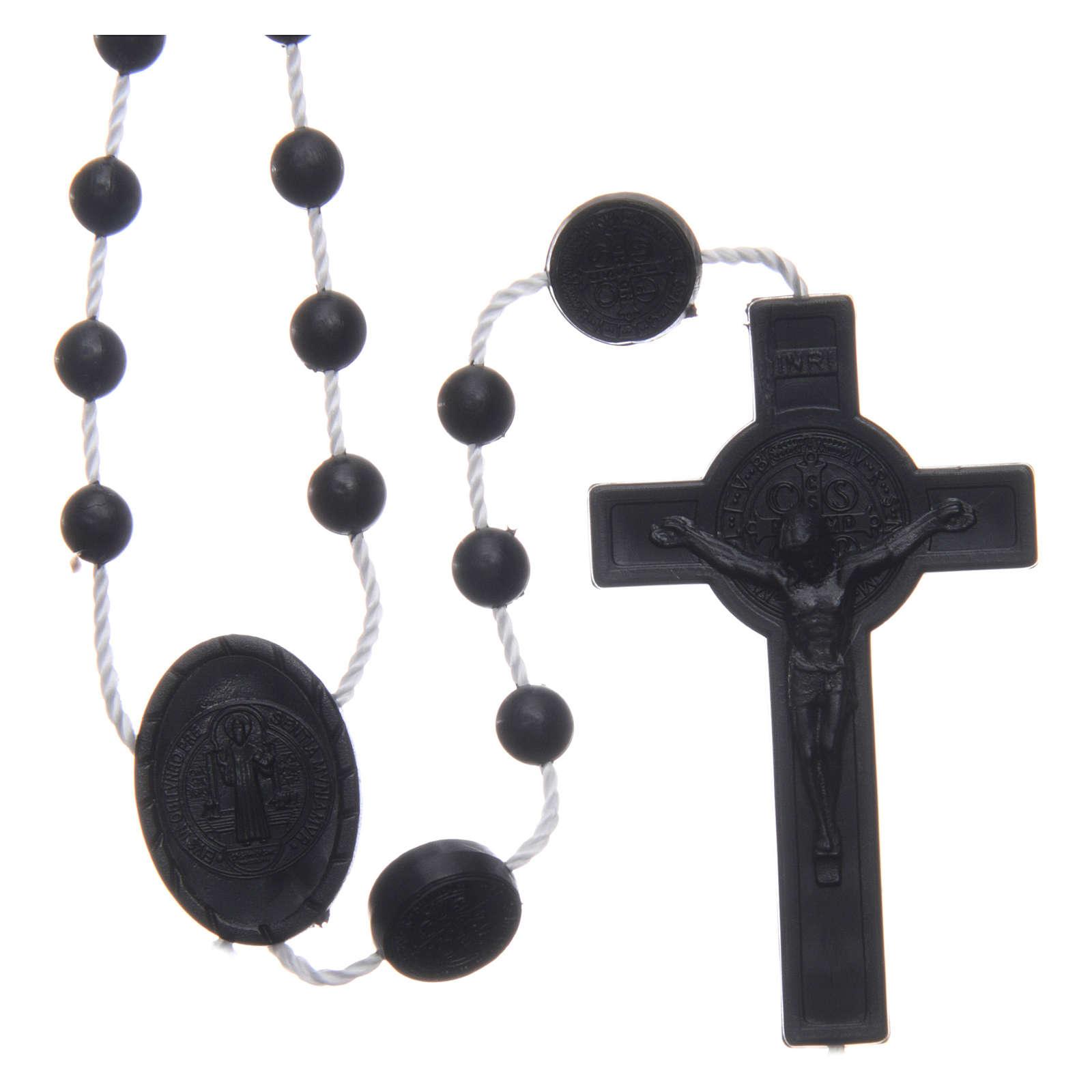 Chapelet nylon noir Saint Benoît 6 mm 4