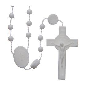 Saint Benedict rosary in nylon white 6 mm s1