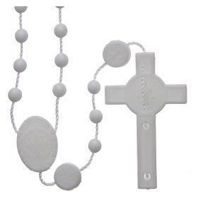 Saint Benedict rosary in nylon white 6 mm s2