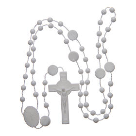 Saint Benedict rosary in nylon white 6 mm s4