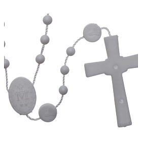 Nylon Our Lady of Miracles rosary in white color s2