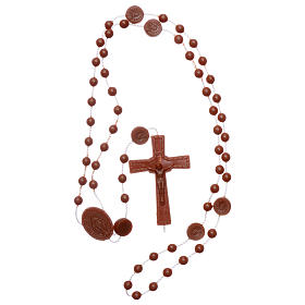 Nylon Our Lady of Miracles rosary in brown color s4