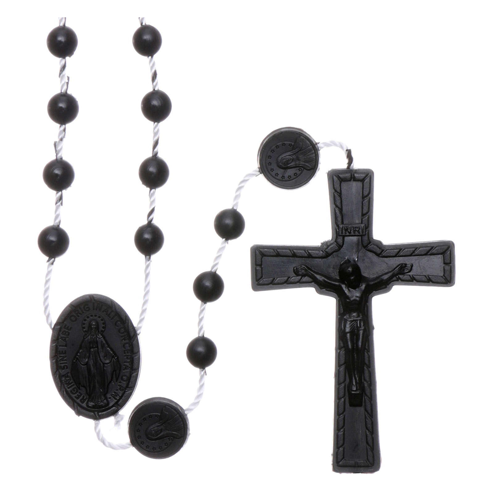 Our Lady of Miracles rosary in nylon black 4