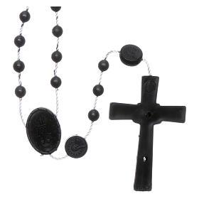 Rosario negro nylon Virgen de la Medalla Milagrosa s2