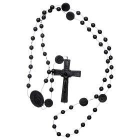 Rosario negro nylon Virgen de la Medalla Milagrosa s4