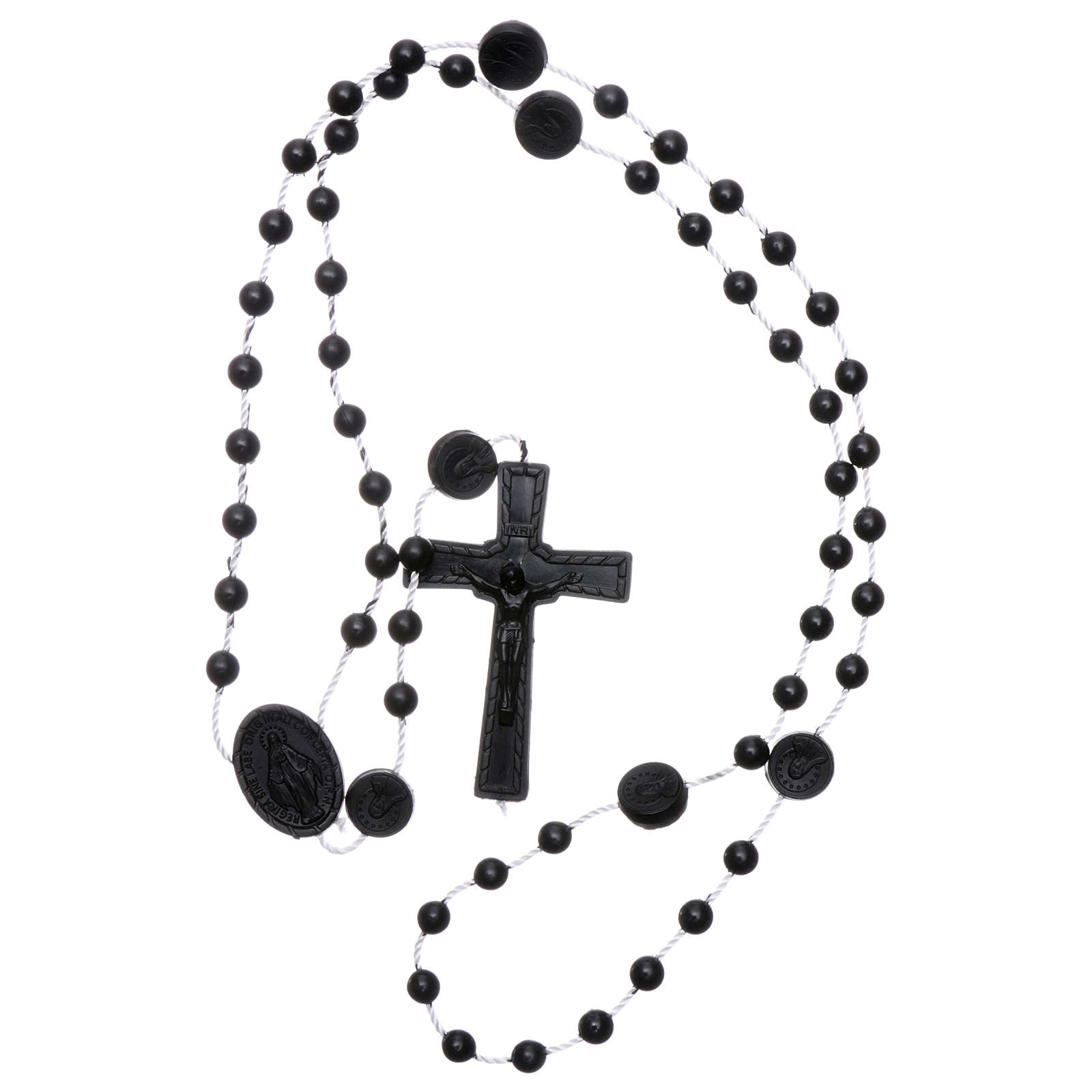 Nylon Our Lady of Miracles rosary in black color 4