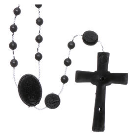 Nylon Our Lady of Miracles rosary in black color s2