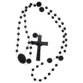 Nylon Our Lady of Miracles rosary in black color s4