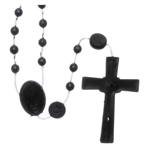 Nylon Our Lady of Miracles rosary in black color 2