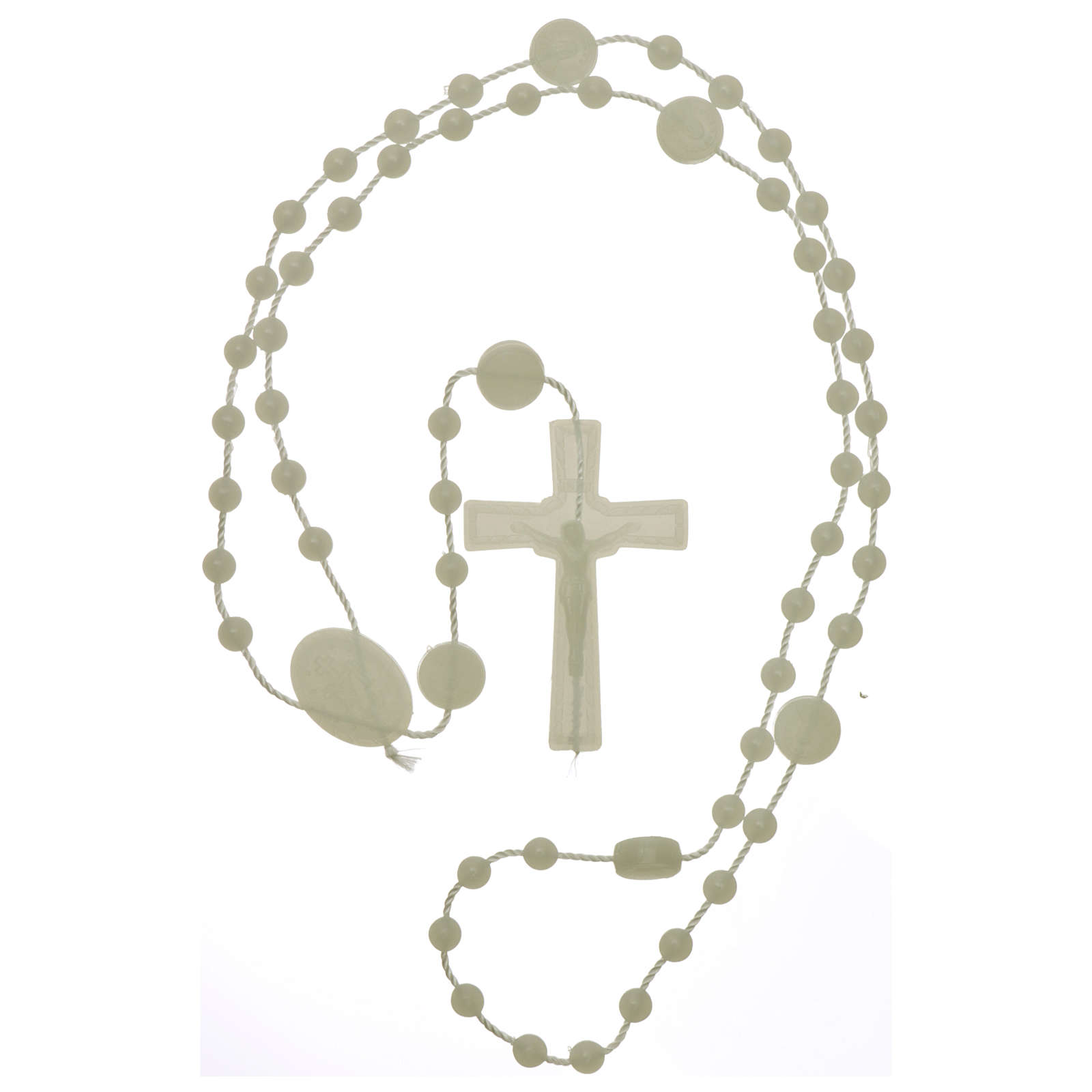 Our Lady of Miracles rosary fluorescent in nylon 4