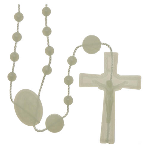 Our Lady of Miracles rosary fluorescent in nylon 1