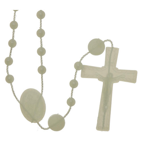Our Lady of Miracles rosary fluorescent in nylon 2