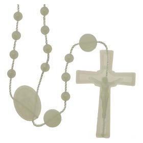 Rosarios económicos: Rosario fosforescente nylon Virgen de la Medalla Milagrosa