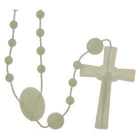 Rosario fosforescente nylon Virgen de la Medalla Milagrosa s2