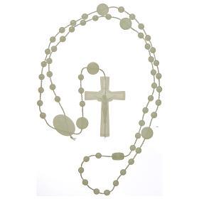 Rosario fosforescente nylon Virgen de la Medalla Milagrosa s4