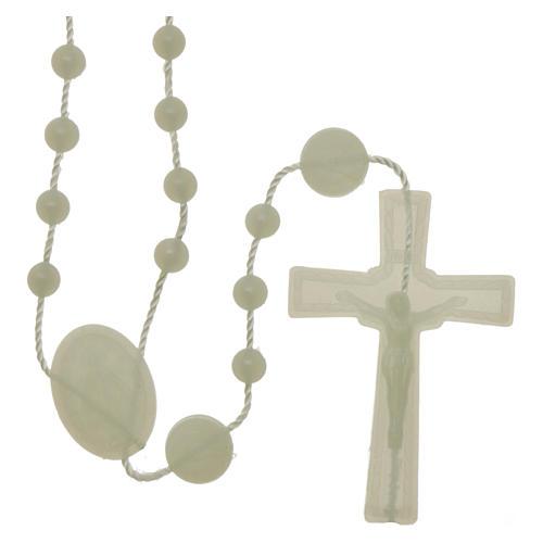 Rosario fosforescente nylon Virgen de la Medalla Milagrosa 1