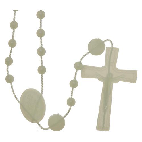 Rosario fosforescente nylon Virgen de la Medalla Milagrosa 2