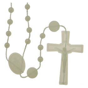 Nylon Our Lady of Miracles rosary in fluorescent color s1