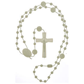 Nylon Our Lady of Miracles rosary in fluorescent color s4