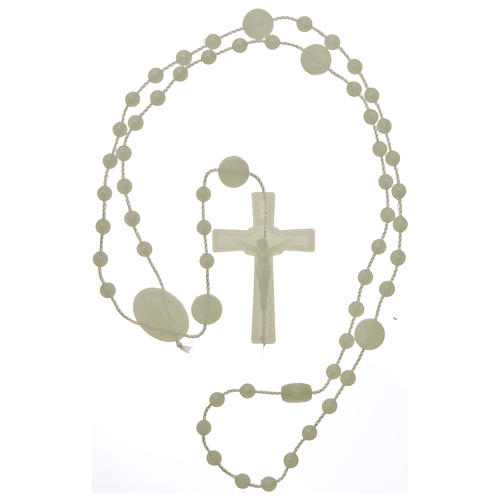 Nylon Our Lady of Miracles rosary in fluorescent color 4