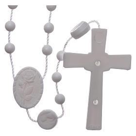 Chapelet Lourdes blanc nylon s2