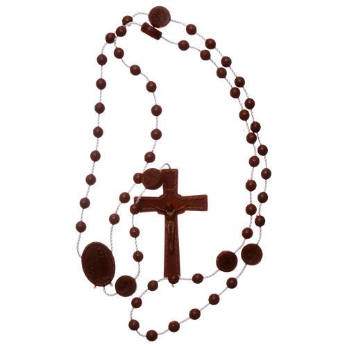 Chapelet Lourdes marron nylon 4