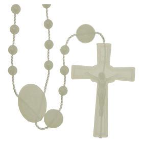Economical rosaries: Lourdes rosary in nylon fluorescent