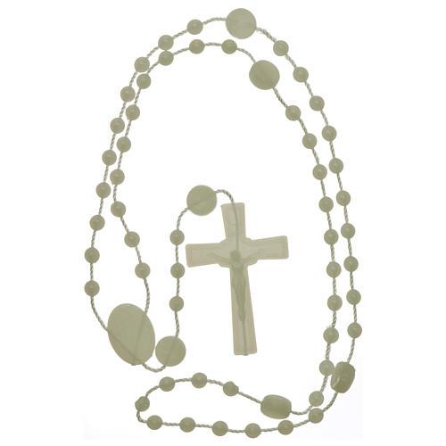 Rosario Nuestra Señora de Lourdes de nylon fosforescente 4