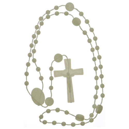 Nylon Our Lady of Lourdes rosary in fluorescent color 4