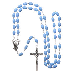 Rosary in plastic 5x3 mm grains, blue s4