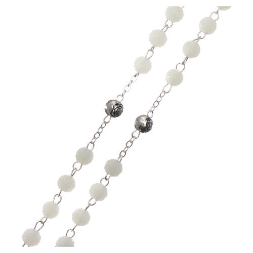 Plastic scented rosary beads 4x4 mm 3