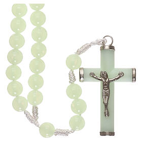 Plastic rosary with phosphorus beads 8 mm s1